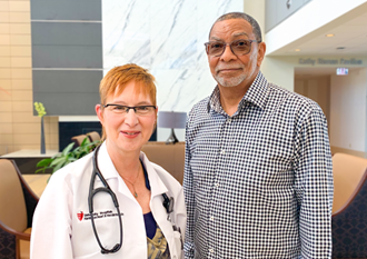 Glynn Crawford was saved three days after being prescribed a Zoll LifeVest wearable defibrillator by his cardiologist Barbara Williams, M.D.